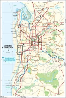 Adelaide suburbs map