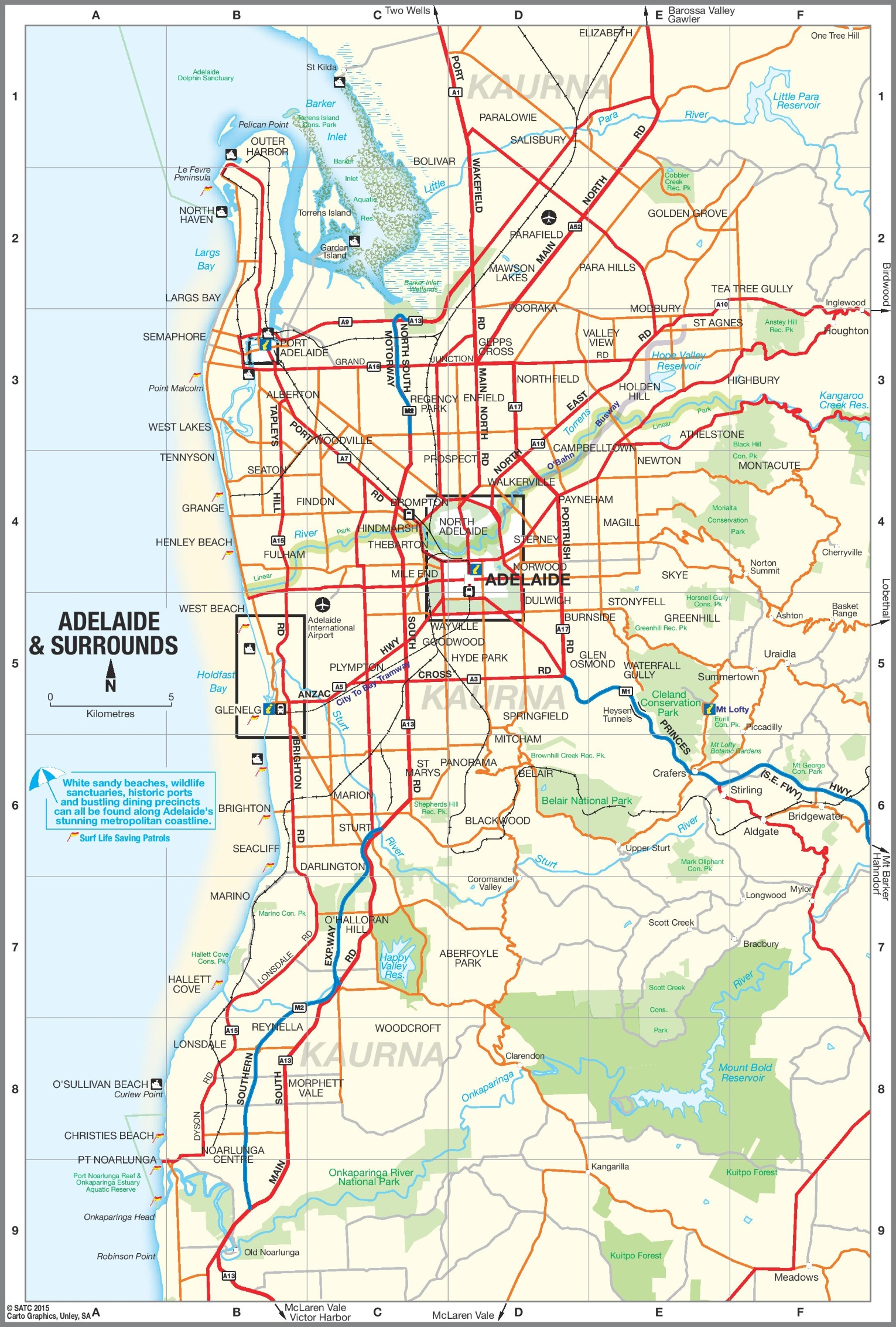 Adelaide Map Of Australia.Adelaide Suburbs Map
