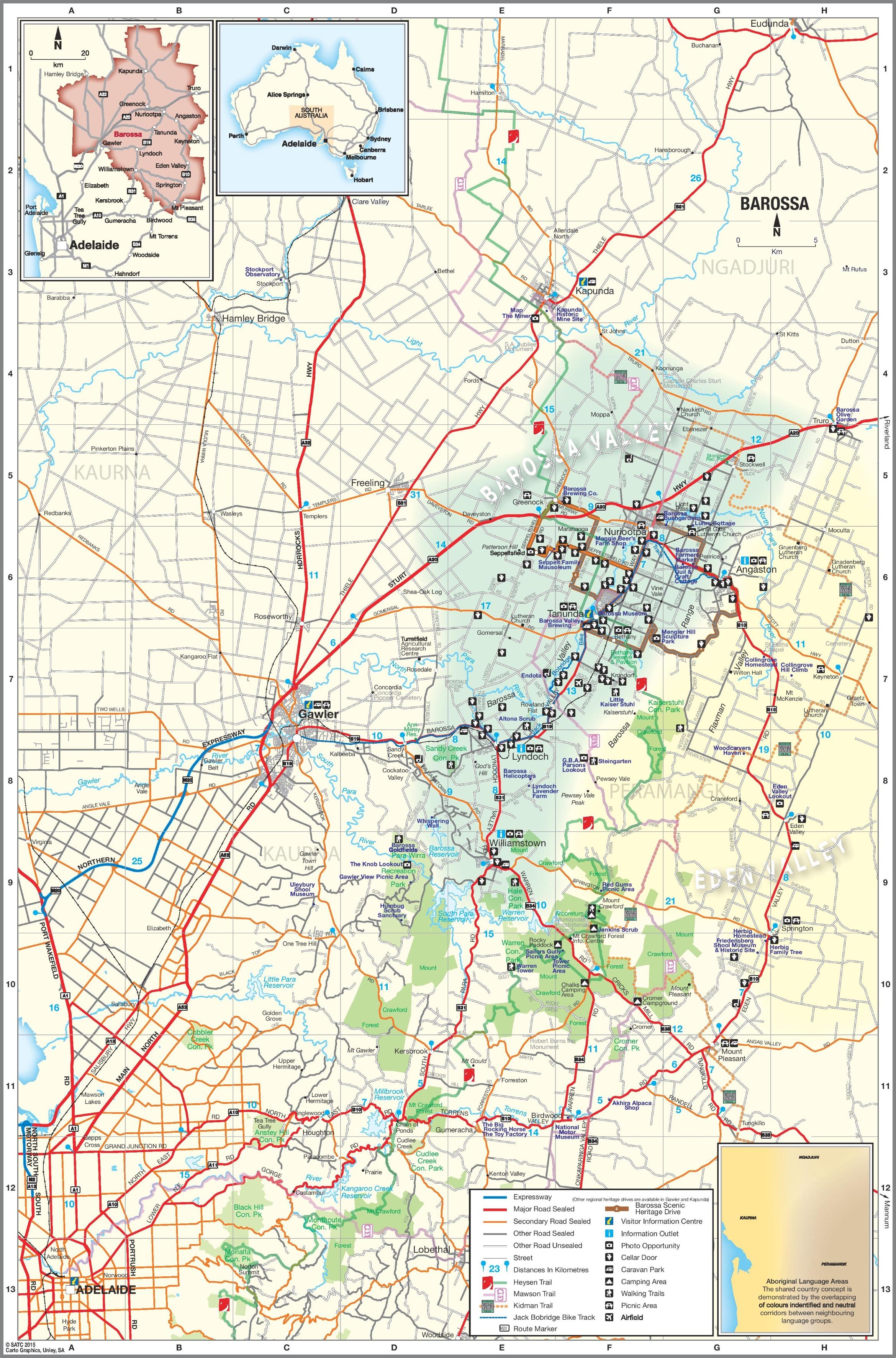 Barossa Valley Map Barossa Valley map Barossa Valley Map