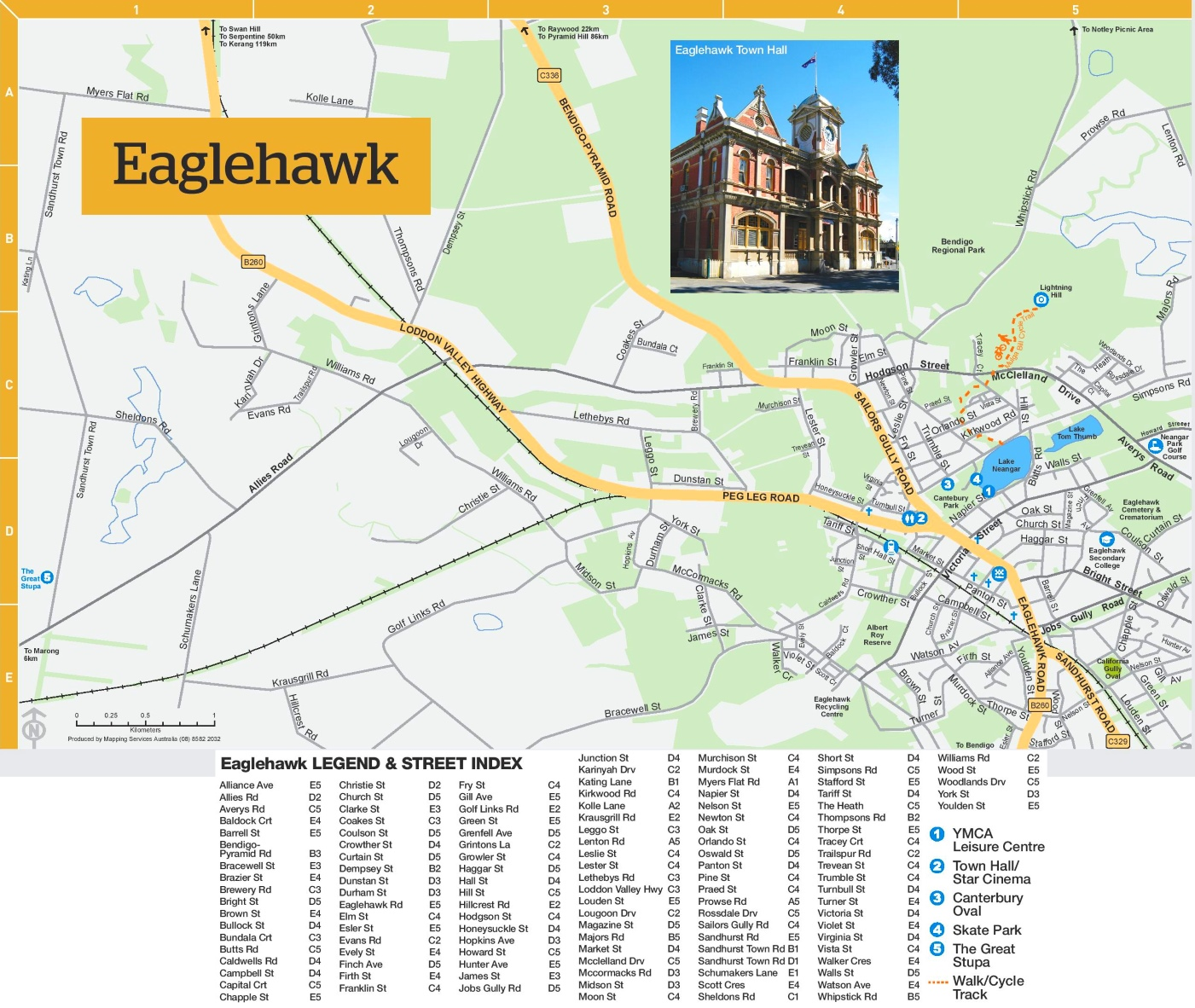 Eaglehawk map