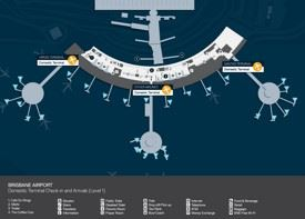 Brisbane airport map