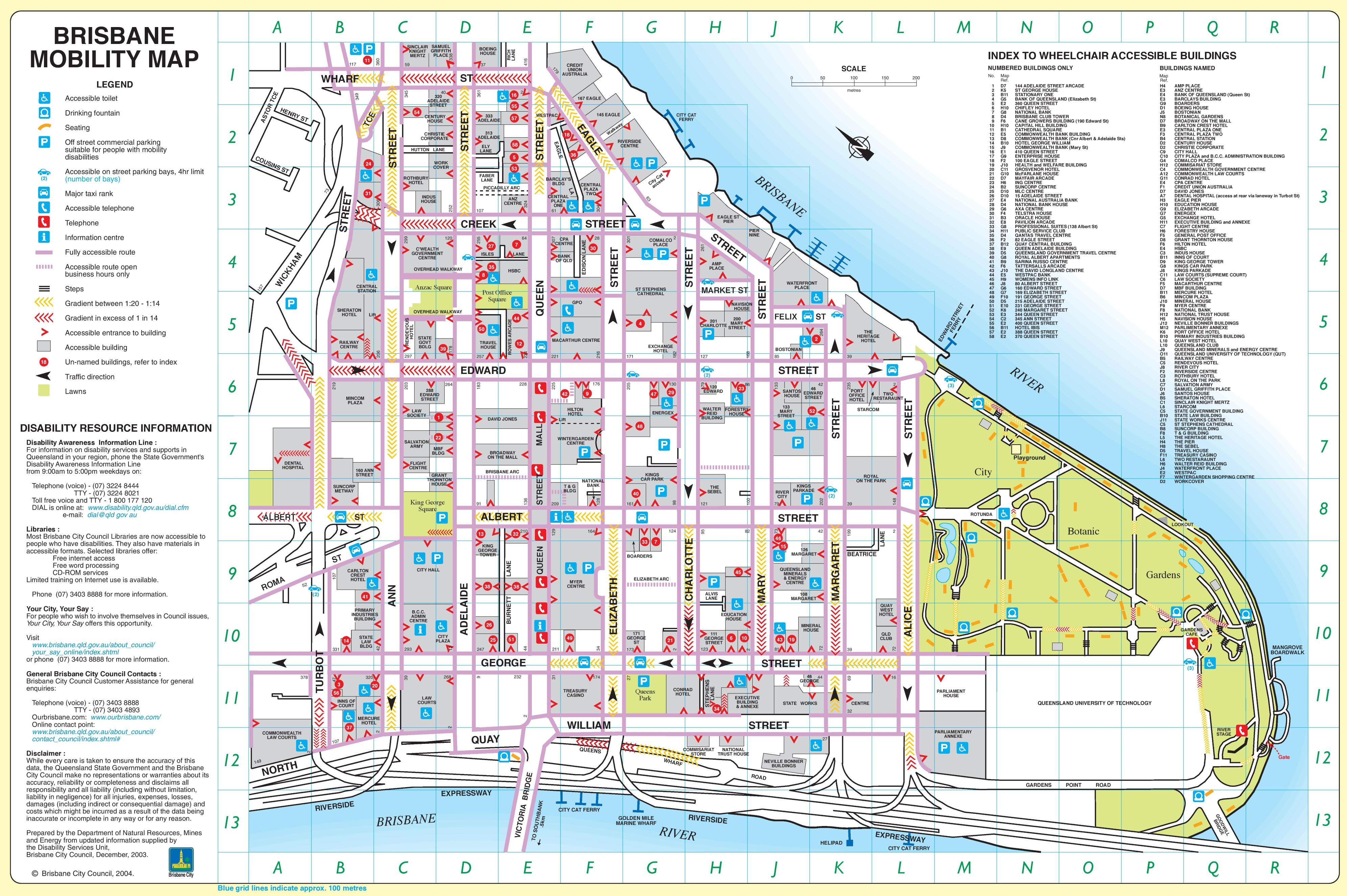 Map Of Brisbane Brisbane city center map Map Of Brisbane