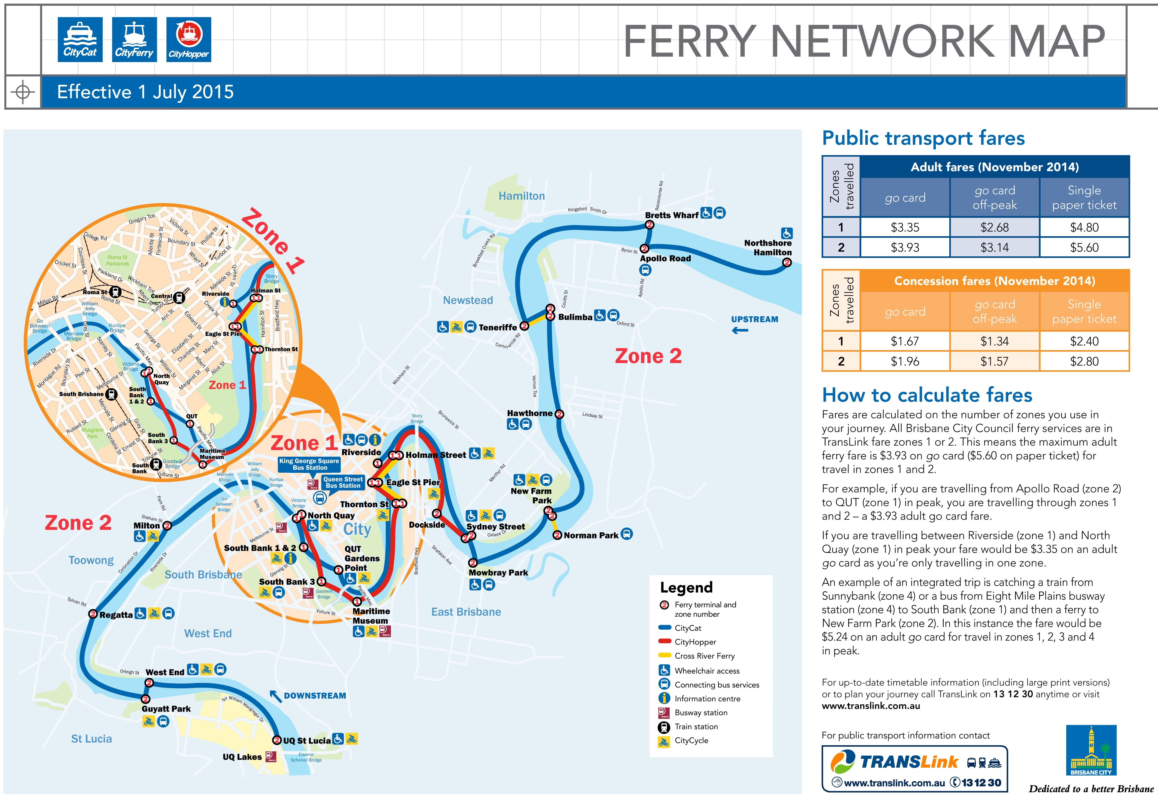 Map Of Brisbane Australia.Brisbane Ferry Map