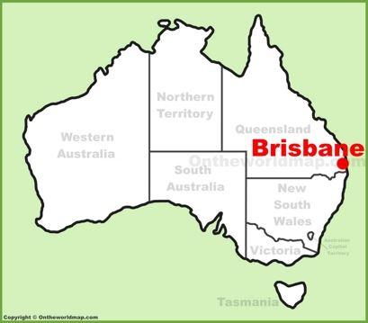 Brisbane Location Map