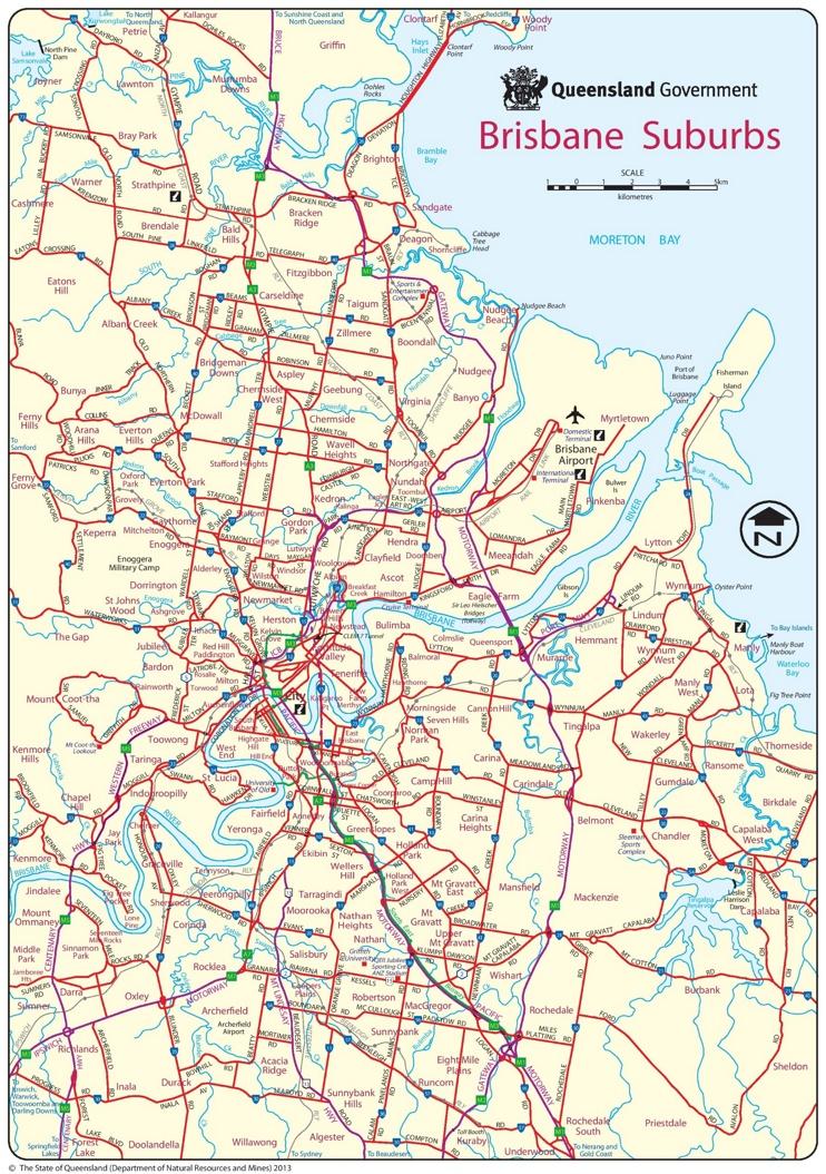 Brisbane suburbs map