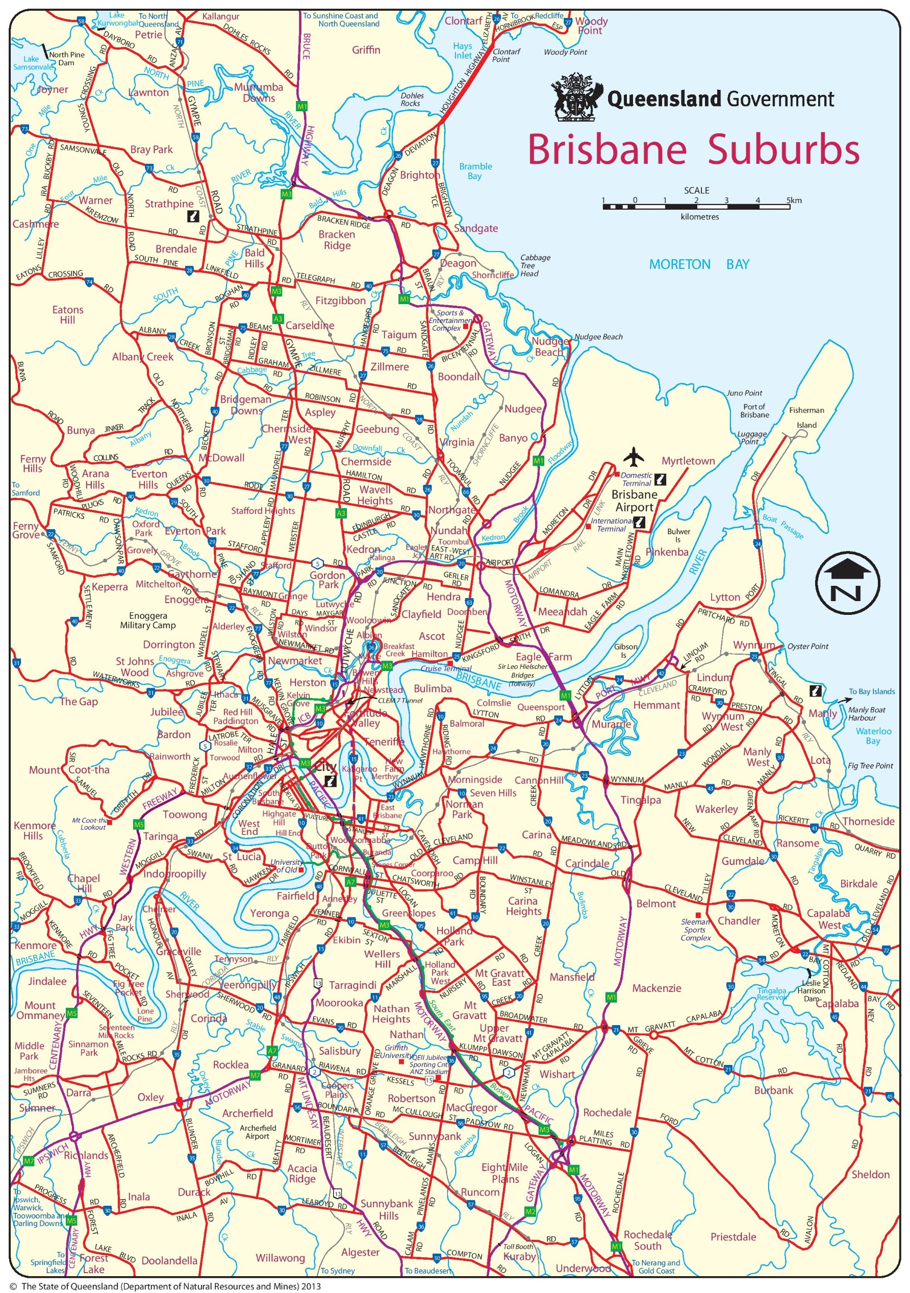 Brisbane Suburb Map Brisbane suburbs map