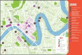Brisbane tourist map