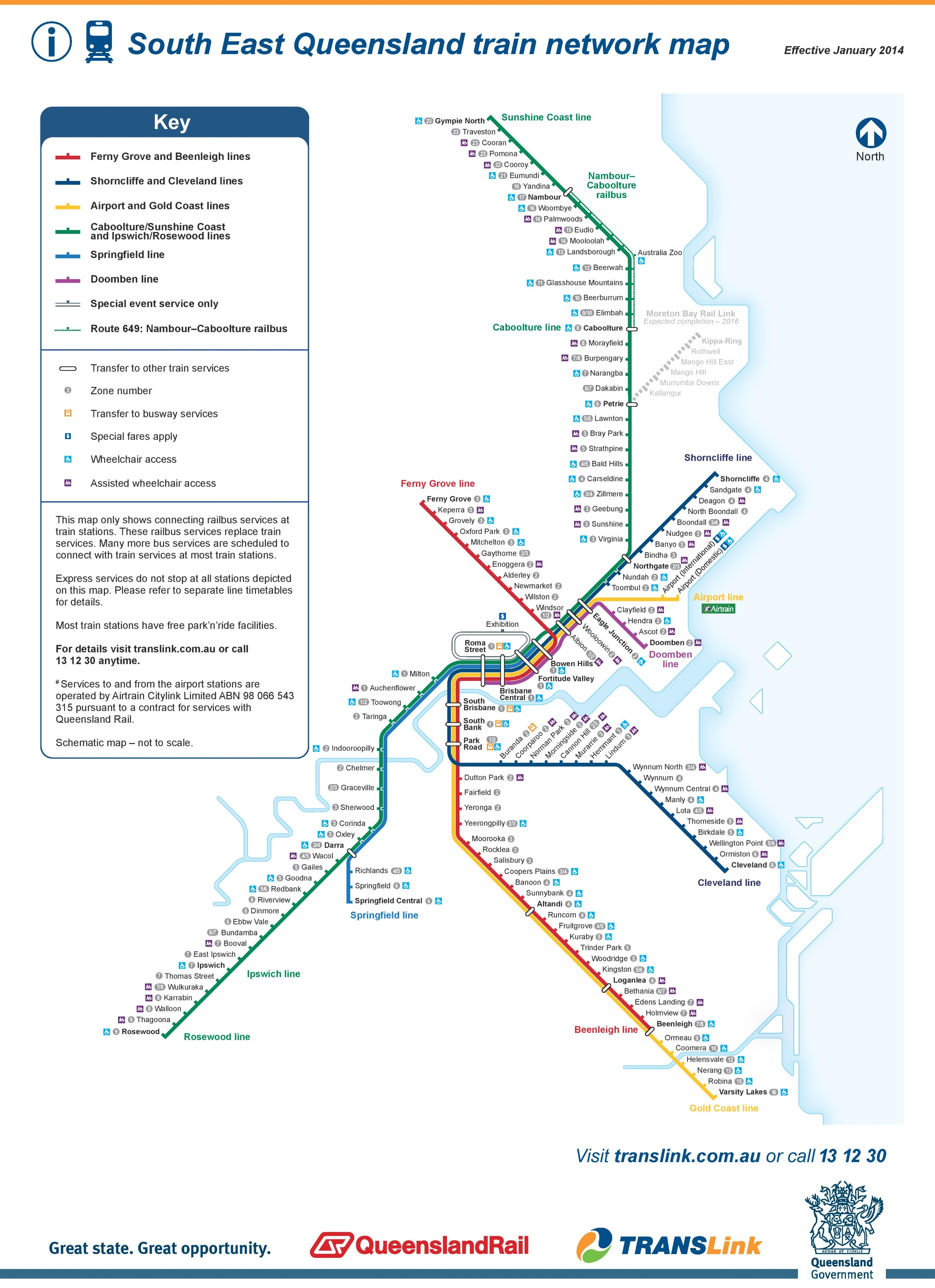 Train Map Brisbane Brisbane train map