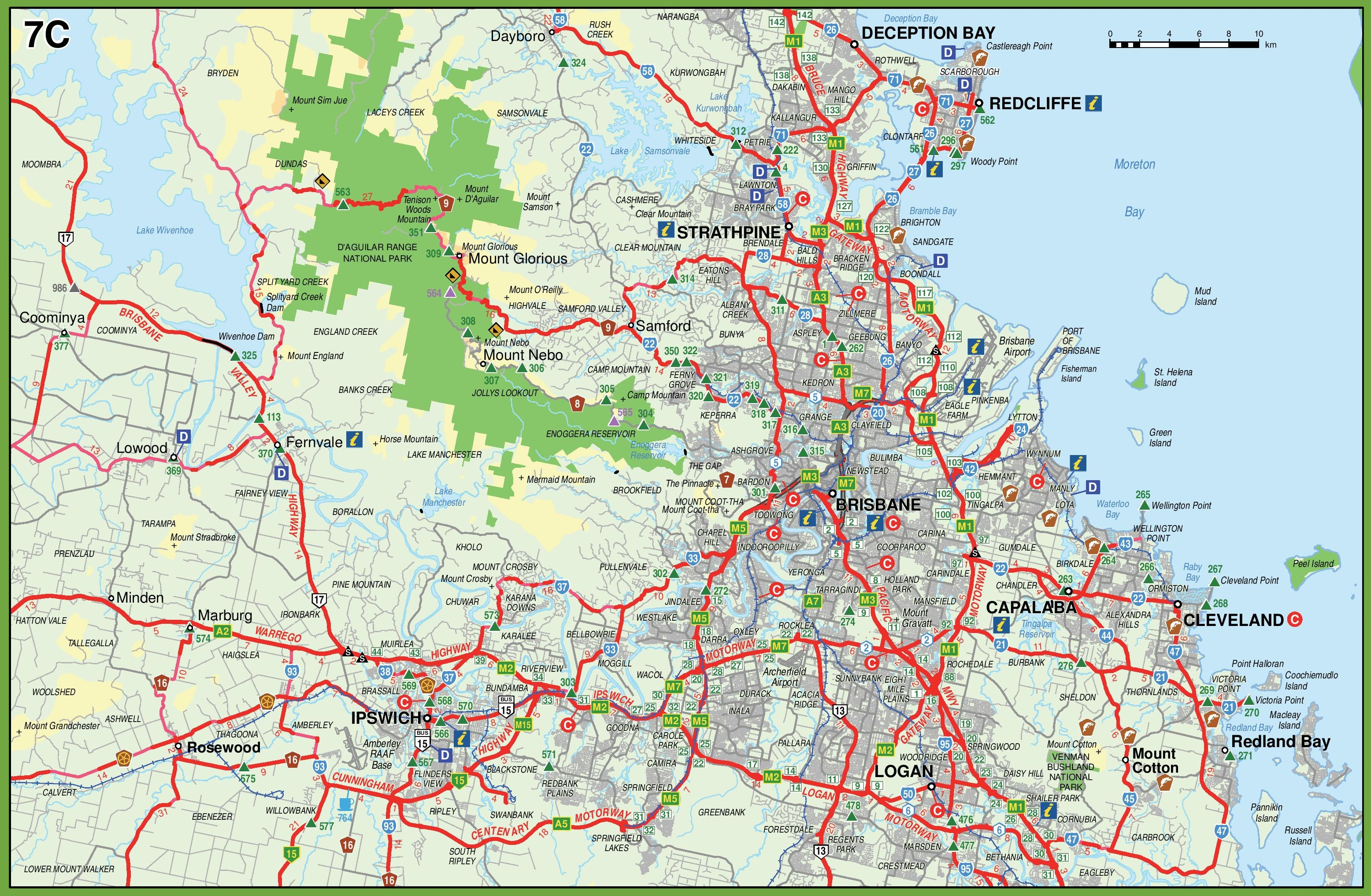 Map of surroundings of Brisbane