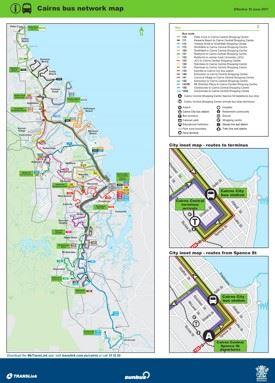 Cairns Bus map