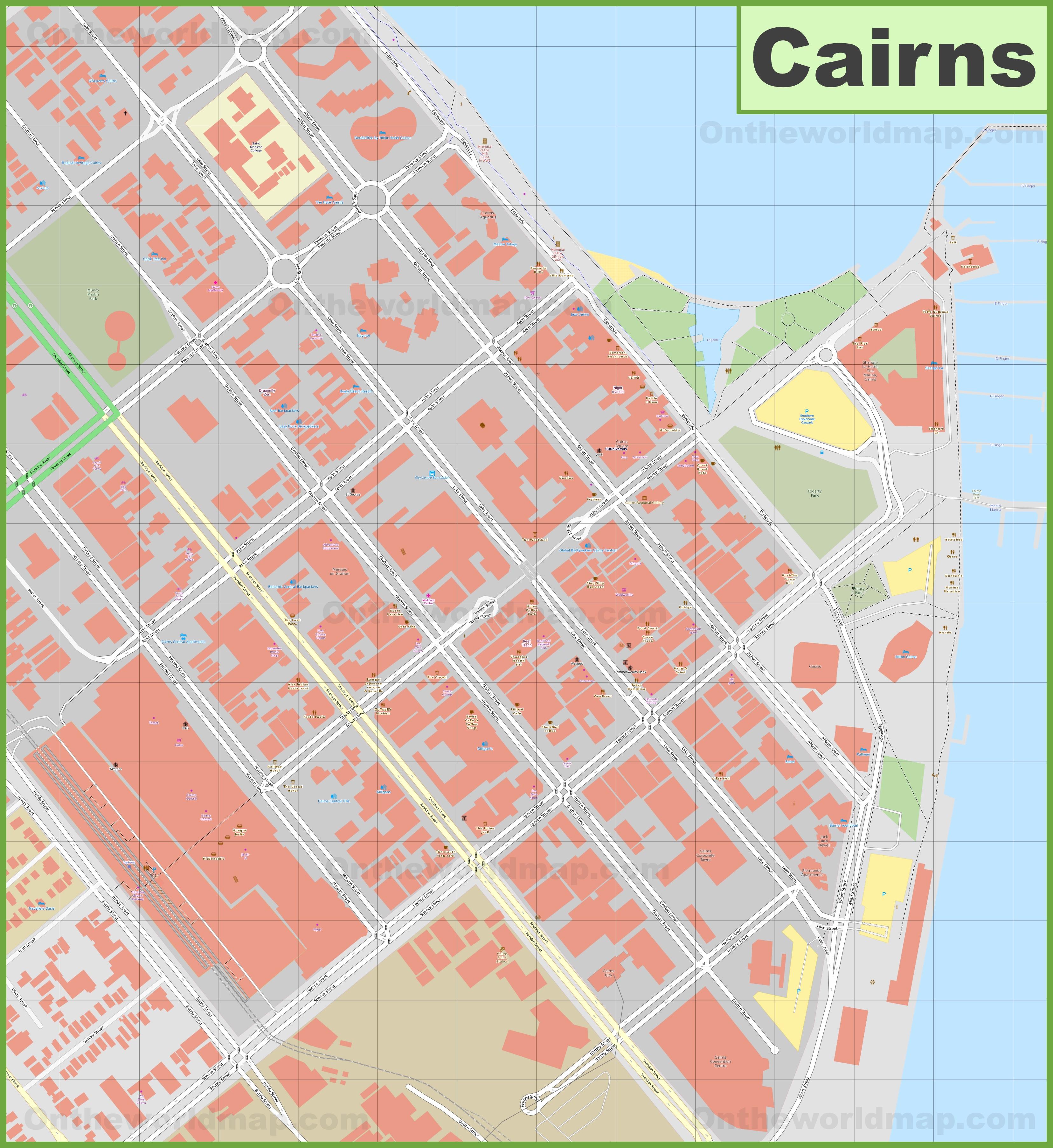 Cairns CBD map