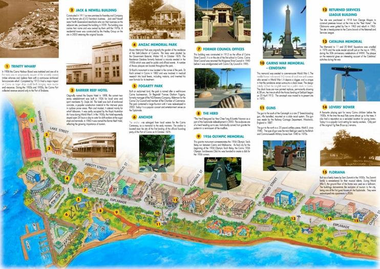Cairns Esplanade walk map