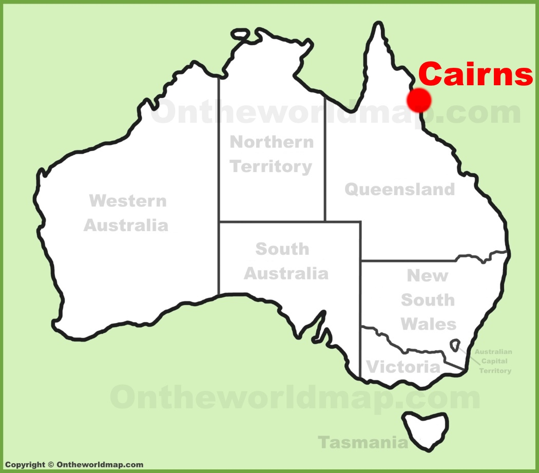 Cairns location on the Australia Map
