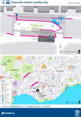 Caloundra station area map
