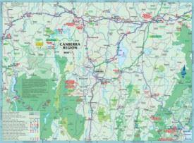 Australian Capital Territory (ACT) tourist map