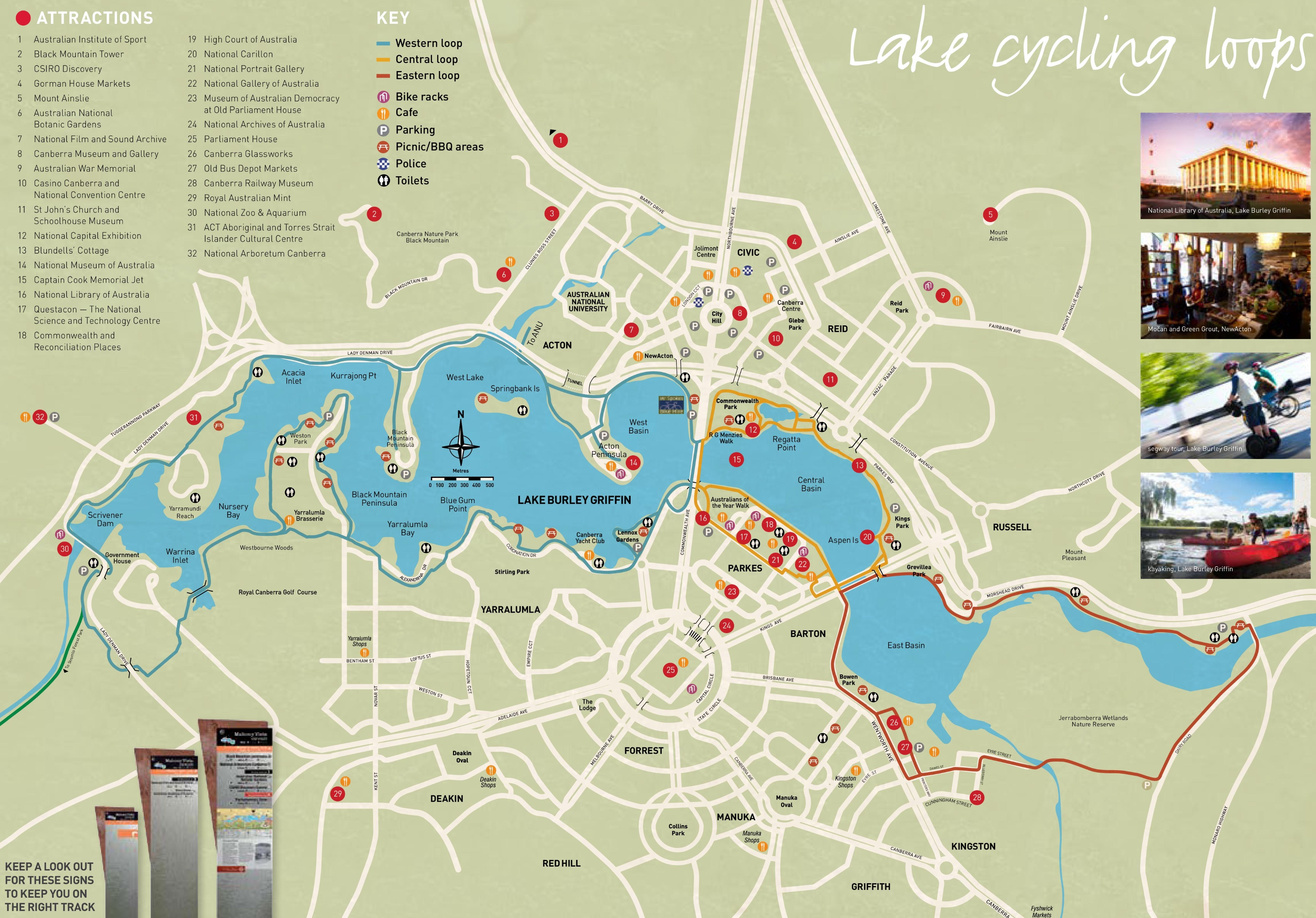 Canberra sightseeing map