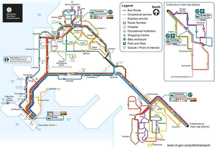 Darwin Bus map