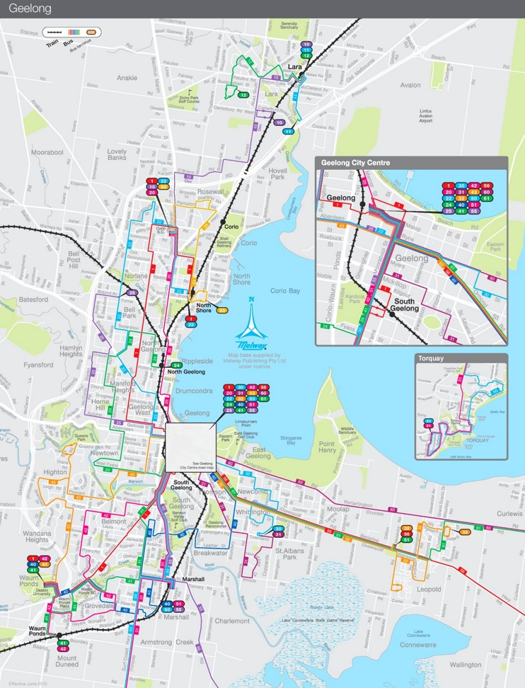 Geelong Bus map