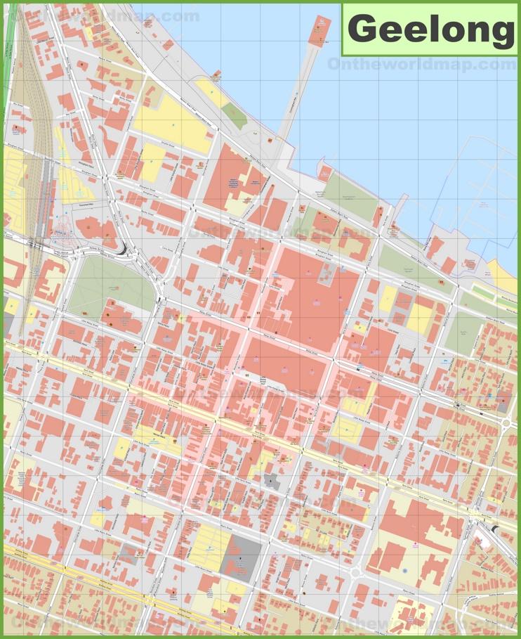 Geelong CBD map