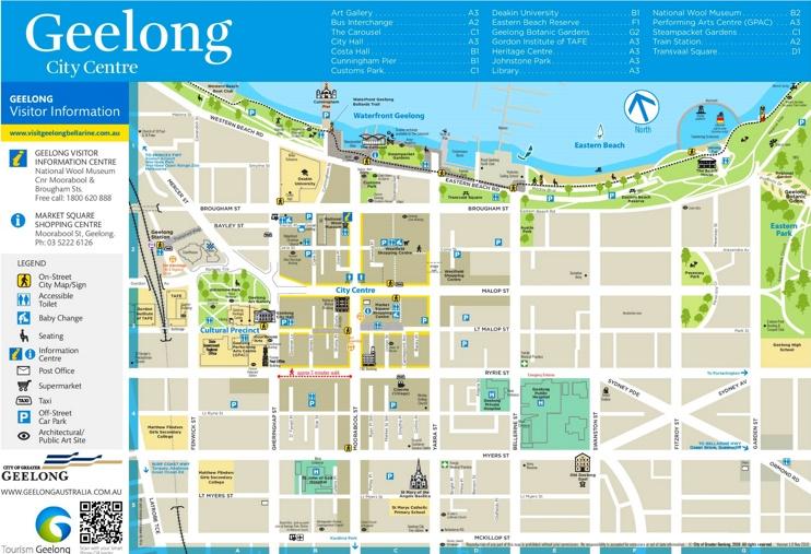 Geelong tourist map