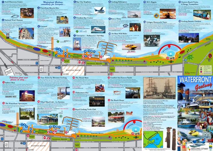 Geelong Waterfront map