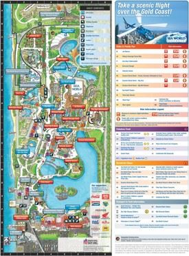 Gold Coast Sea World Park map