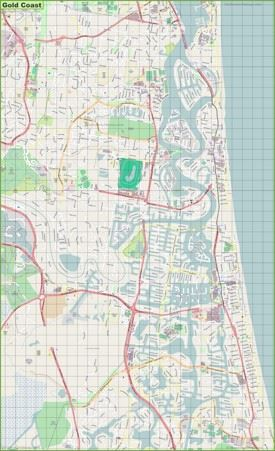 Gold Coast street map