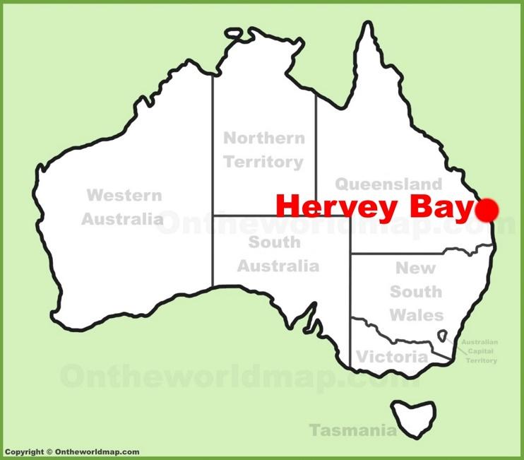 Hervey Bay location on the Australia Map