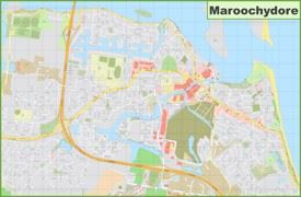 Large detailed map of Maroochydore