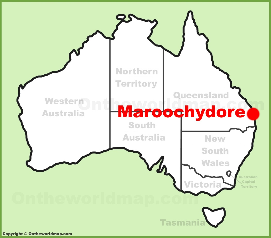 Maroochydore location on the Australia Map