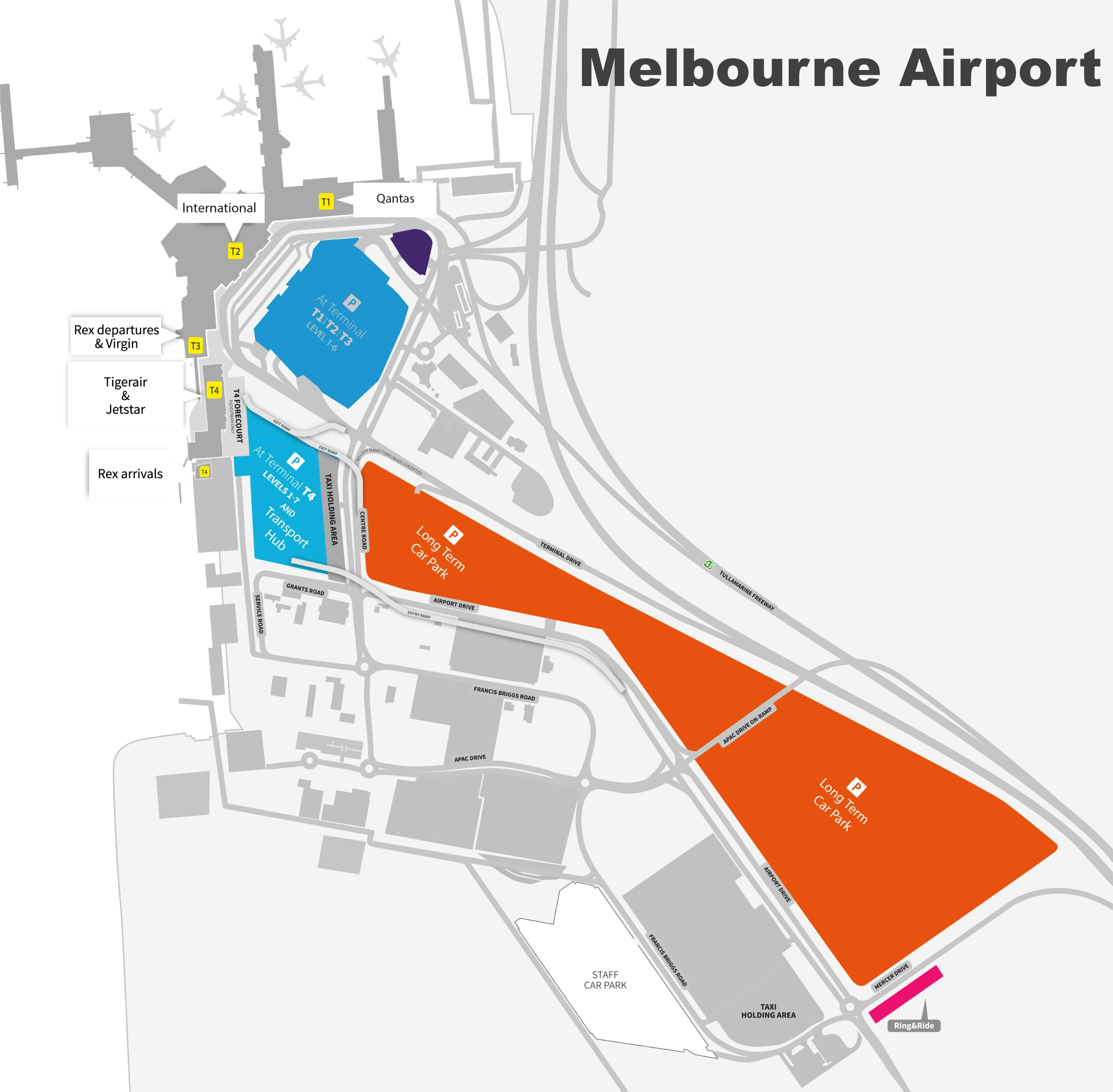 Melbourne Airport Map Melbourne airport map Melbourne Airport Map