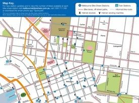 Melbourne bike map