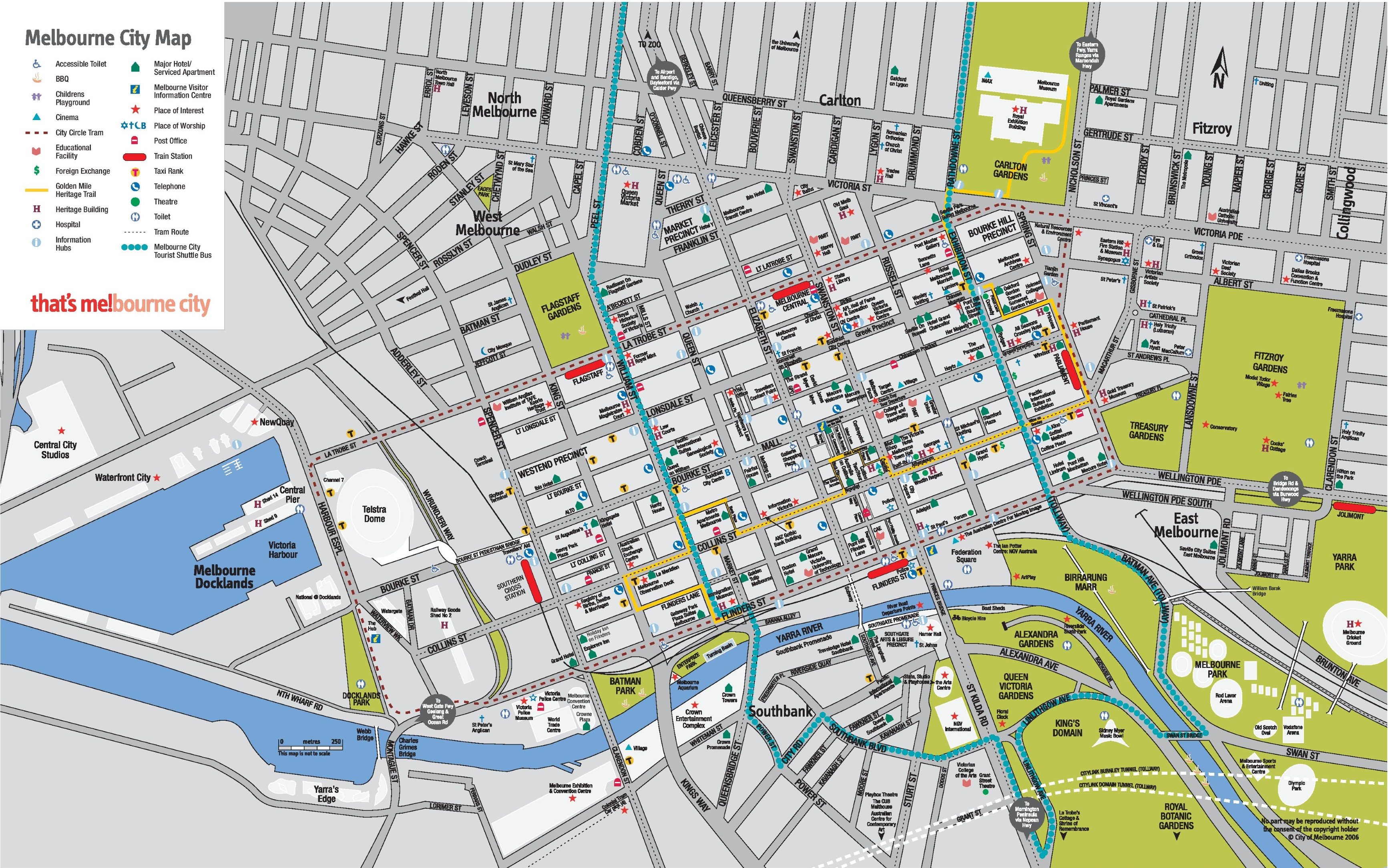 Melbourne CBD map