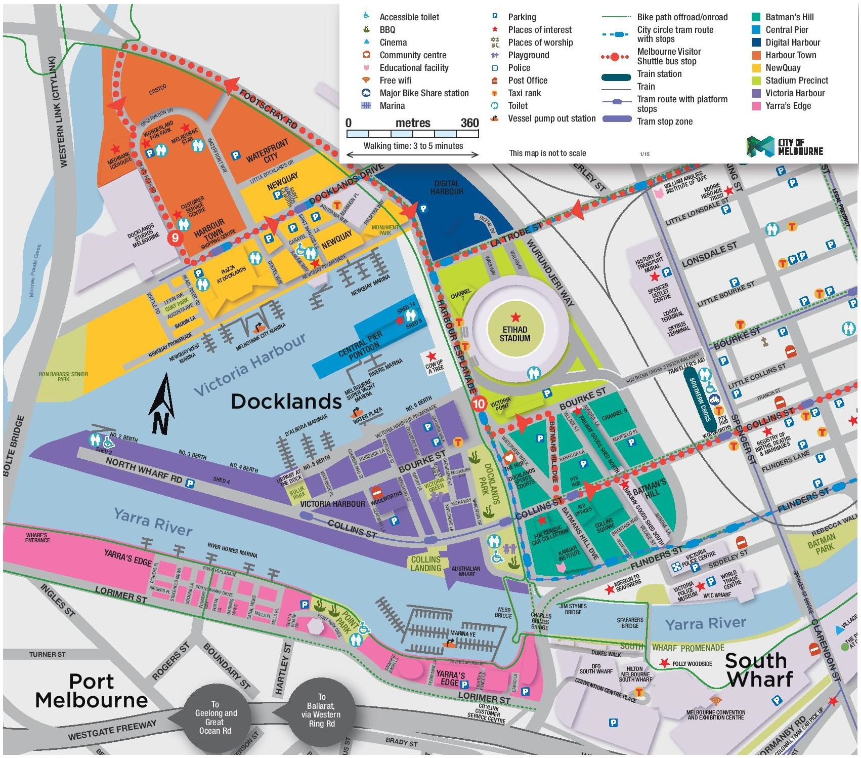 Melbourne Docklands map