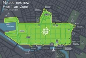 Melbourne free tram zone map