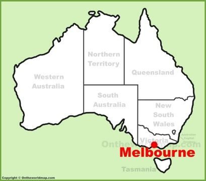 Melbourne Location Map