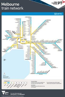 Melbourne metro train map