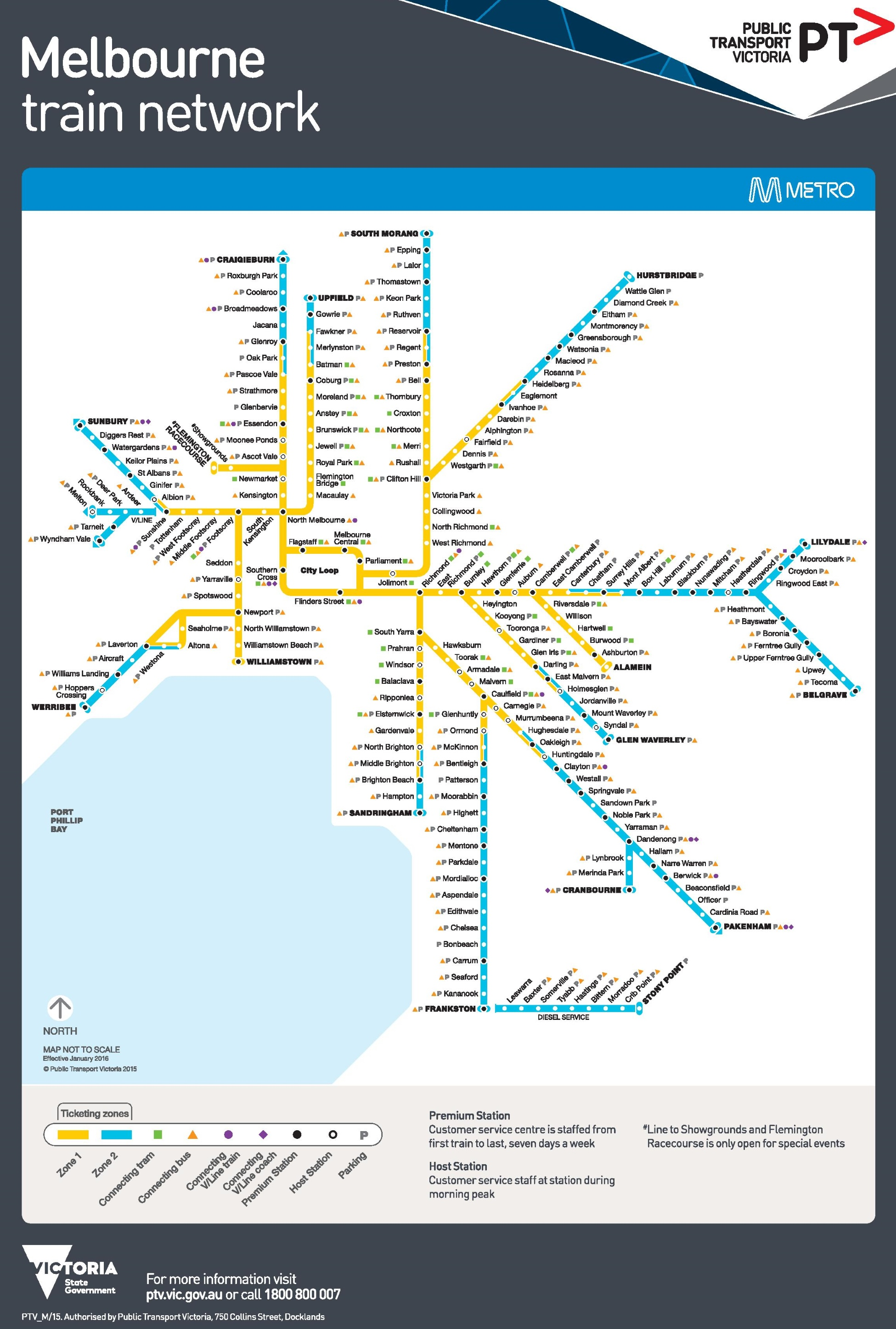 Melbourne metro train map