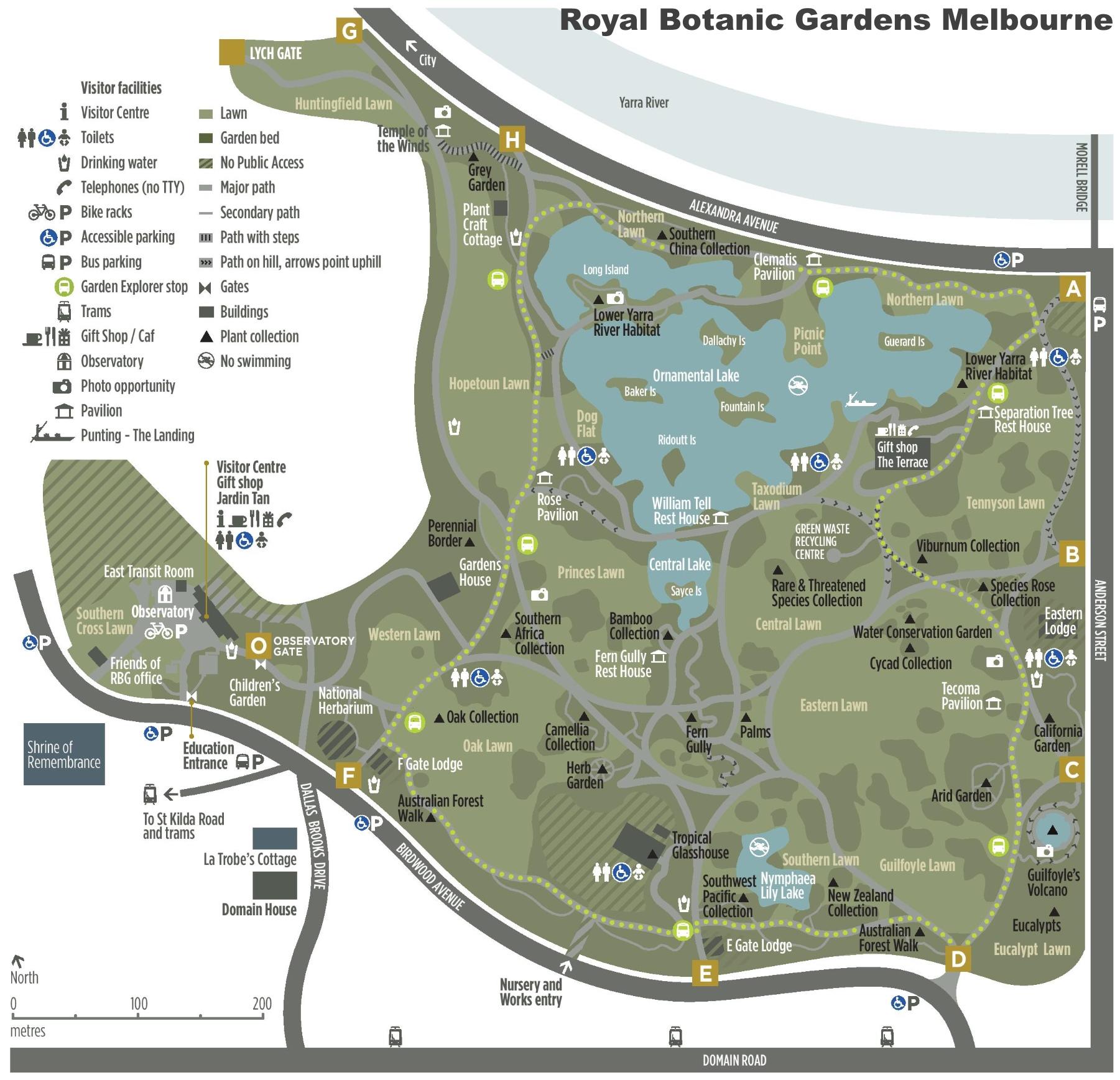 Royal Botanic Garden Map Garden Ftempo