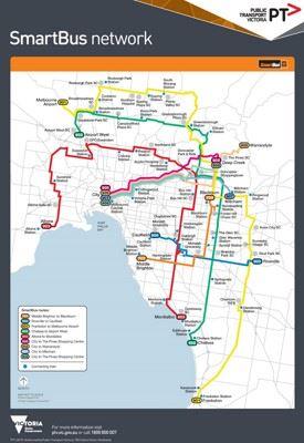 Melbourne SmartBus map
