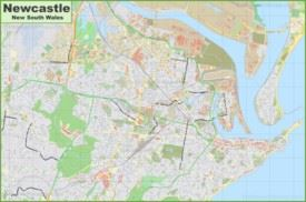 Large detailed map of Newcastle