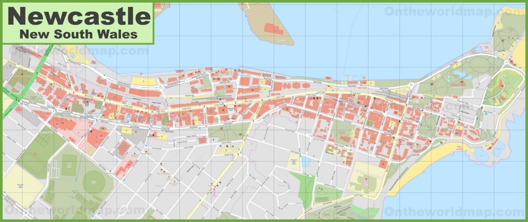 Newcastle CBD map