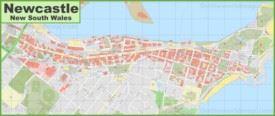 Newcastle CBD map