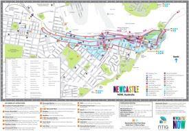 Newcastle tourist map