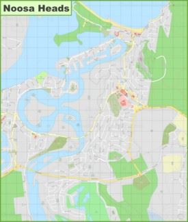 Large detailed map of Noosa Heads