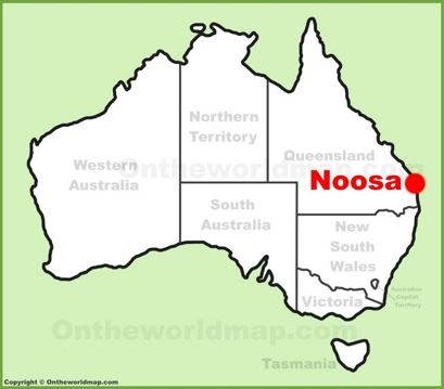 Noosa Heads Location Map