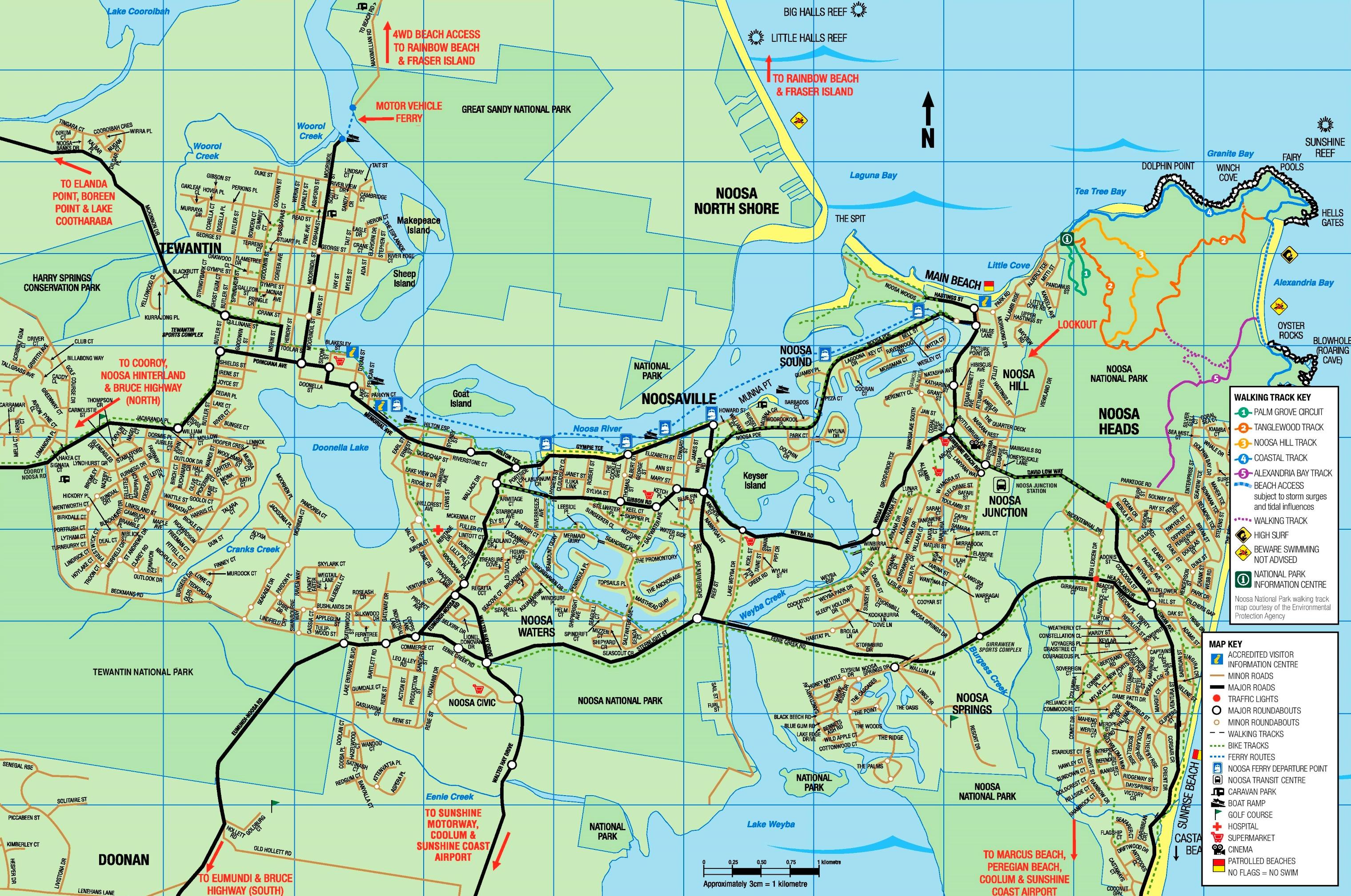 Noosa Heads tourist map