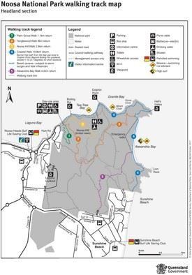 Noosa National Park map