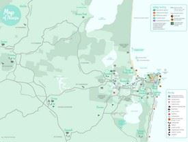 Noosa area tourist map