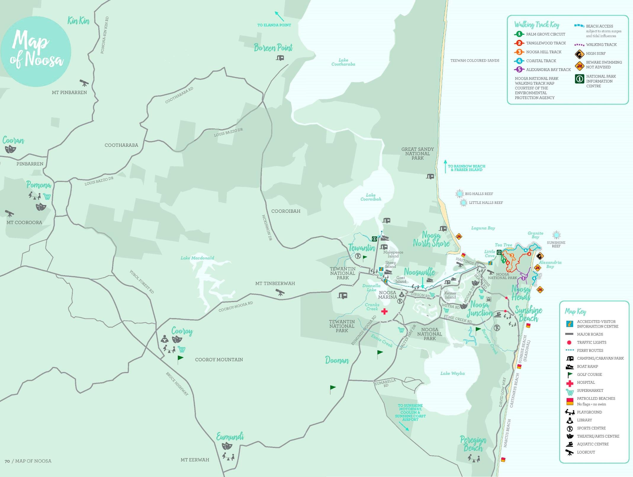 Noosa area tourist map